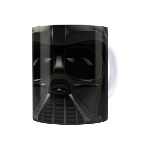Caneca Porcelana Star Wars Darth Vader 01 Branca