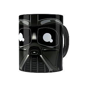 Caneca Porcelana Star Wars Darth Vader 02 Preta