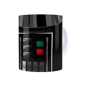 Caneca Porcelana Star Wars Darth Vader 03 Branca