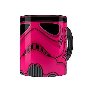 Caneca Porcelana Star Wars StormTrooper Pink Preta