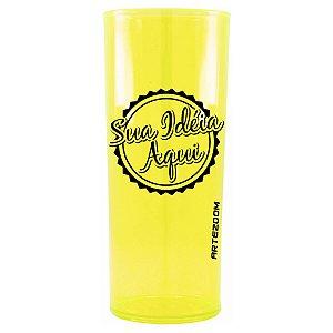 Copo Personalizado Long Drink Acrílico 350ml Amarelo