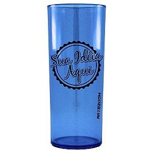 Copo Personalizado Long Drink Acrílico 350ml Azul