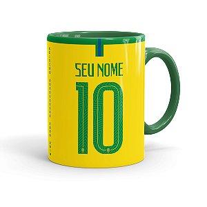 Caneca Camisa Seleção Brasileira Copa 2018 Verde