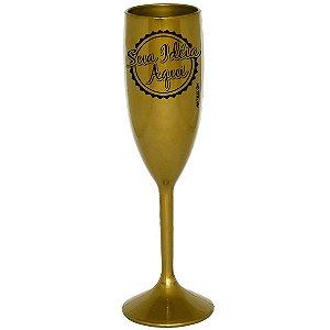 Taça Personalizada Acrílico 180ml Dourado