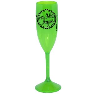Taça Personalizada Acrílico 180ml Verde Neon