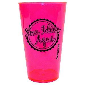Copo Twister Personalizado 500ml Rosa Neon