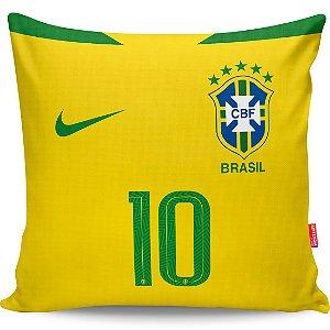 Almofada Camisa Brasil Seleção Brasileira Copa 2018 Amarela