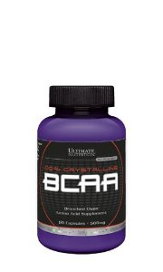 BCAA 100% CRYSTALLINE 500mg - Ultimate Nutrition | 60 cápsulas