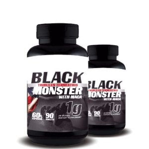 KIT 2 TRIBULUS TERRESTRIS BLACK MONSTER WITH MACA 1g - Super Nutrition Supplements | 2x 90 cápsulas