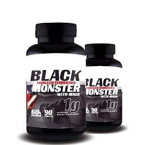 KIT 2 TRIBULUS TERRESTRIS BLACK MONSTER WITH MACA 1g - Super Nutrition Supplements | 2x 90 cápsulas