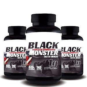 KIT 3 TRIBULUS TERRESTRIS BLACK MONSTER WITH MACA 1g - Super Nutrition Supplements | 3x 90 cápsulas