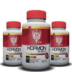 KIT 3 TRIBULUS TERRESTRIS HORMON SHIELD 1500mg - Shadow Nutrition | 3x 120 cápsulas