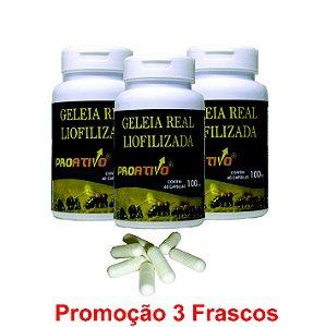 PROMOÇÃO 3 Geleia Real Liofilizada - 60 Capsulas