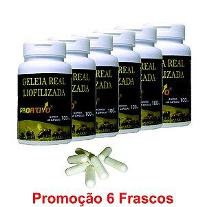 PROMOÇÃO 6 Geleia Real Liofilizada - 60 Capsulas
