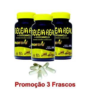PROMOÇÃO 3 Geleia Real Liofilizada + Cogumelo do Sol - 60 Capsulas