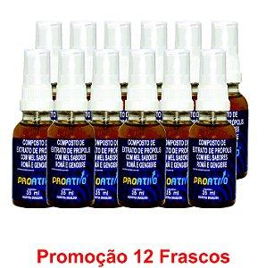 PROMOÇÃO 12 Própolis Spray Romã e Gengibre  35 ml