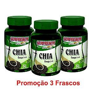 PROMOÇÃO 3 CHIA 90 CAPSULAS 440mg