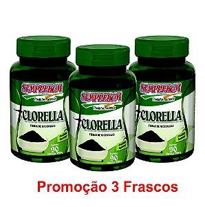 PROMOÇÃO 3 CLORELLA 90 CAPSULAS 500mg