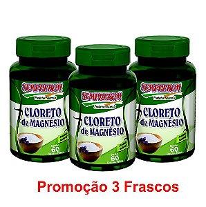 PROMOÇÃO 3 CLORETO DE MAGNÉSIO 60 CAPSULAS 400mg