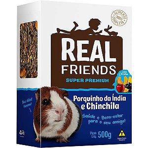 Ração Para Chinchila E Porquinho Da Índia Com Frutas Real Friends Zootekna 500g