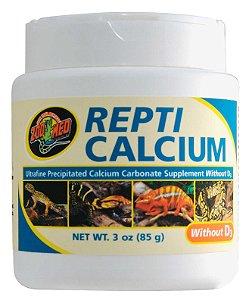 Cálcio Sem Vitamina D3 Para Répteis Zoo Med Repti Calcium