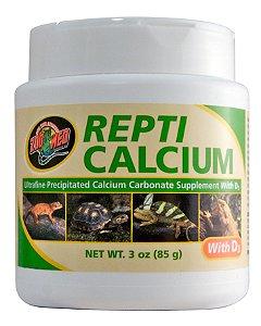 Calcio Para Répteis Com Vitamina D3 Zoo Med Repti Calcium