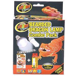 Combo Lampadas UVA + UVB Para Pogona Zoo Med Combo Pack