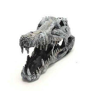 Toca Esqueleto Cabeça De Crocodilo Grande Para Lagartos e Serpentes