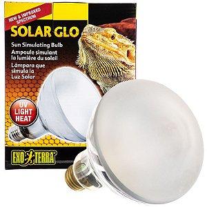Lampada UVB e Aquecimento Para Repteis Exo terra Solar Glo Vapor de Mércurio