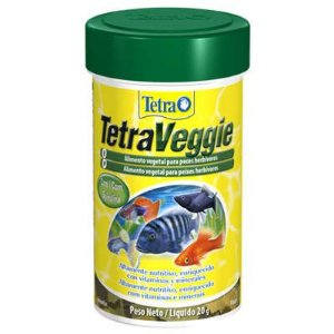 Ração Para Peixes Herbívoros Tetra Veggie Flakes em Flocos 52g