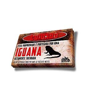 Adesivo Cuidado Iguana