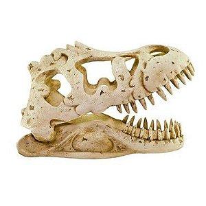 Toca Esqueleto P Cabeça De Tiranossauro Rex Para Gecko e Corn Snake