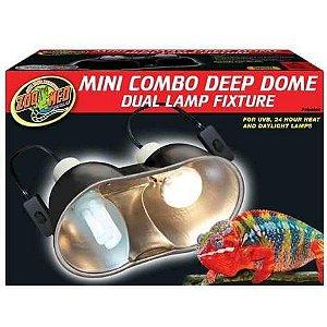 Luminária Dupla Para Terrário de Répteis Zoo Med LF-19EC