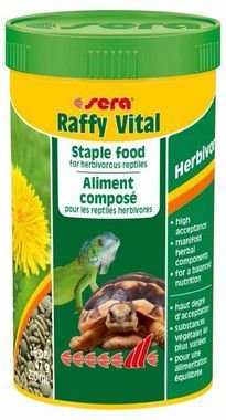 Alimento Para Répteis Herbívoros Iguana Jabuti Sera Raffy Vital