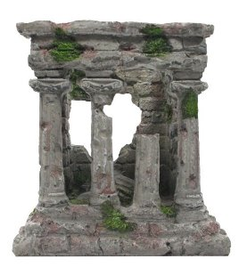Enfeite Em Resina Ruina Romana Para Terrários