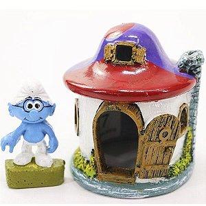 Toca Em Resina Para Répteis Casa Dos Smurfs