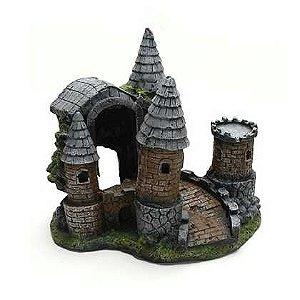 Toca Em Resina Castelo Medieval Para Répteis