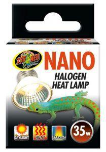 Lampada de Aquecimento UVA Nano Halogen Para Répteis ZooMed 35w