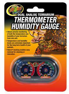 Termômetro e Higrômetro Analógico Para Terrário de Répteis Zoomed