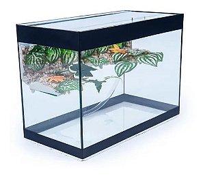 Aquaterrario Com Plataforma Para Tigre D'água  45x21x28 - 26Lts / 3 mm