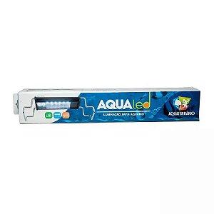 Luminária Para Terrário Aqualed Branca/azul/Rosa 90-100cm 56w 2900 Lm