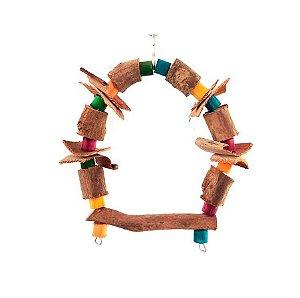 Brinquedo De Maderia Para Aves Capelinha Toy For Bird
