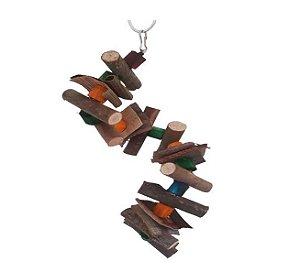 Brinquedo De Maderia Para Aves Caracol Pequeno Toy For Bird