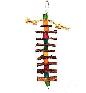 Brinquedo De Maderia Para Aves Escadão Toy For Bird