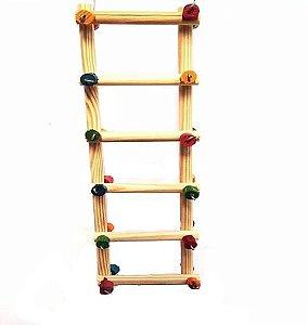 Brinquedo De Maderia Para Aves Escada Sanfonada Toy For Bird