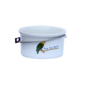 Comedouro Porcelana Calopsita C/Suporte Toy For Bird