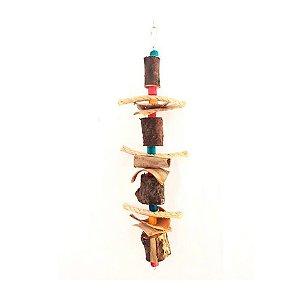 Brinquedo De Maderia Para Aves Lucas G Toy For Bird