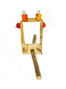Brinquedo De Maderia Para Aves Espelho Toy For Bird