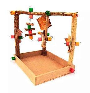 Brinquedo De Maderia Para Aves Parque Mini Toy For Bird