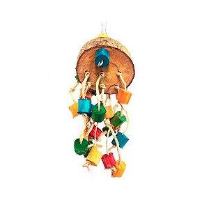 Brinquedo De Maderia Para Aves Aranha Toy For Bird